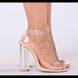Transparent Glass High Heel Sandals